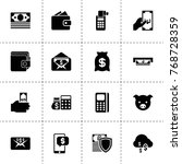 currency icons. vector... | Shutterstock .eps vector #768728359
