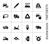automobile icons. vector...