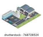 modern urban airport terminal... | Shutterstock .eps vector #768728524