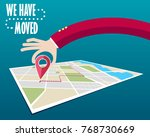we have moved  changed address    Shutterstock . vector #768730669