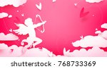 cute valentines day greeting... | Shutterstock .eps vector #768733369