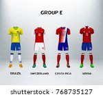 mockup of group e football... | Shutterstock .eps vector #768735127
