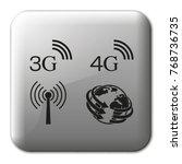 3g  4g symbols. mobile... | Shutterstock .eps vector #768736735