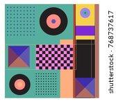 trendy geometric elements... | Shutterstock .eps vector #768737617