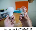 use led lights instead of... | Shutterstock . vector #768742117