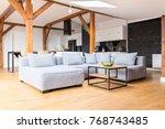 wooden construction of... | Shutterstock . vector #768743485