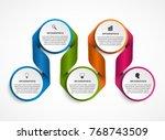 infographics template.... | Shutterstock .eps vector #768743509