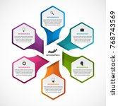 abstract hexagon options... | Shutterstock .eps vector #768743569