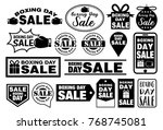 boxing day sale badges design ... | Shutterstock .eps vector #768745081