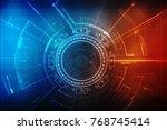 digital abstract technology... | Shutterstock . vector #768745414