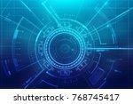 digital abstract technology... | Shutterstock . vector #768745417