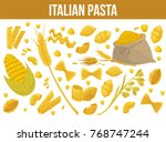 pasta poster design for italian ... | Shutterstock .eps vector #768747244