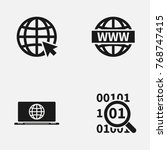 set of web site vector   icons. | Shutterstock .eps vector #768747415