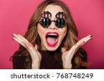 close up portrait of a happy... | Shutterstock . vector #768748249
