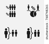 set of human infographics ... | Shutterstock .eps vector #768748261