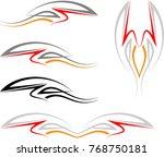 vehicle graphics  stripe  ... | Shutterstock . vector #768750181