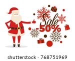 sale poster up to 50  price... | Shutterstock .eps vector #768751969
