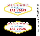welcome to las vegas sign icon... | Shutterstock .eps vector #768755191
