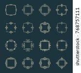 huge rosette wicker border... | Shutterstock .eps vector #768757111