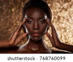portrait of sensual young... | Shutterstock . vector #768760099