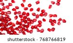 pomegranate seeds isolated on... | Shutterstock . vector #768766819