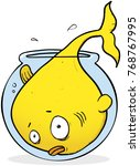 goldfish that has outgrown his... | Shutterstock .eps vector #768767995