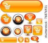 buy vector glossy icons. | Shutterstock .eps vector #76876921
