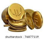 stack of gold coins for... | Shutterstock . vector #76877119
