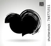 black brush stroke and texture. ... | Shutterstock .eps vector #768771511