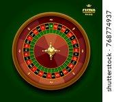 casino roulette wheel on dark... | Shutterstock . vector #768774937