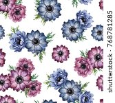 watercolor seamless pattern of... | Shutterstock . vector #768781285