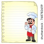 notepad page with chef theme 2  ... | Shutterstock .eps vector #768782659