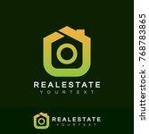 real estate initial letter o... | Shutterstock .eps vector #768783865