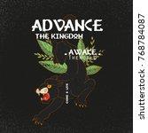 advance the kingdom slogan.... | Shutterstock .eps vector #768784087