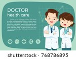 doctor presentation for banner... | Shutterstock .eps vector #768786895
