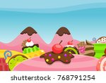 candy land background for... | Shutterstock .eps vector #768791254