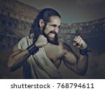 antique fighter  gladiator.... | Shutterstock . vector #768794611