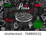 italian food menu for... | Shutterstock .eps vector #768800131