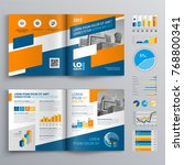 business brochure template... | Shutterstock .eps vector #768800341