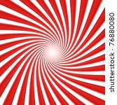 Red spiral  twisted - stock photo