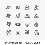 augmented reality icon set with ... | Shutterstock .eps vector #768801655