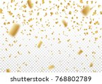 falling vector confetti on... | Shutterstock .eps vector #768802789