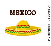 mexican sombrero. colorful... | Shutterstock . vector #768805609