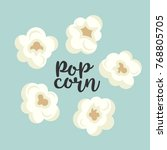 colorful popcorn items cute set.... | Shutterstock . vector #768805705