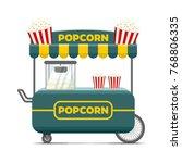 popcorn street food cart.... | Shutterstock . vector #768806335
