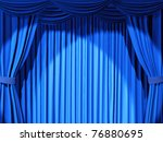 Theatrical Curtain Of Blue...