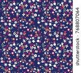 floral pattern in vector | Shutterstock .eps vector #768807064