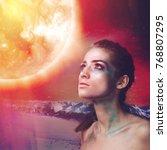 supernova  science fiction... | Shutterstock . vector #768807295