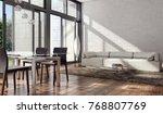 modern bright interiors 3d... | Shutterstock . vector #768807769
