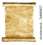 scroll of old parchment. object ...   Shutterstock . vector #76880827